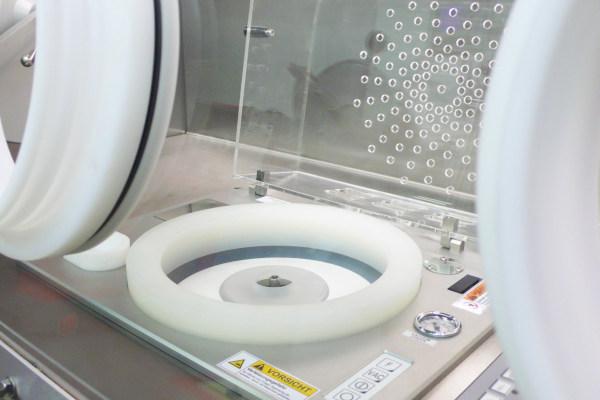 Intégration d'un spincoater pour boîte à gants