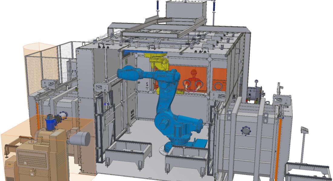 Robot pour boîte à gants de fabrication additive