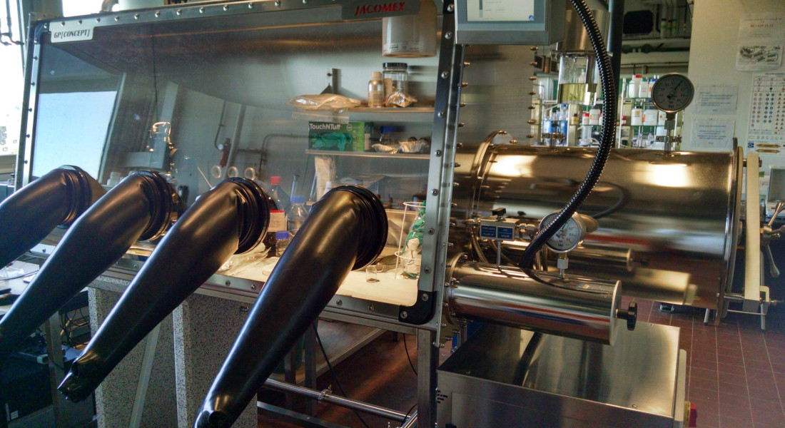 Boîte à gants pour la fabrication et matériaux Box AFM 1