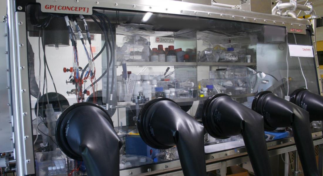 Boîte à gants pour la fabrication et matériaux batteries lithium