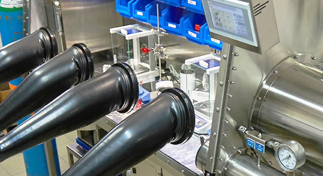 Boîte à gants pour la fabrication et matériaux organometallique