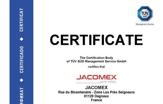 Certification ISO 9001 – Un engagement qualité de longue date chez JACOMEX